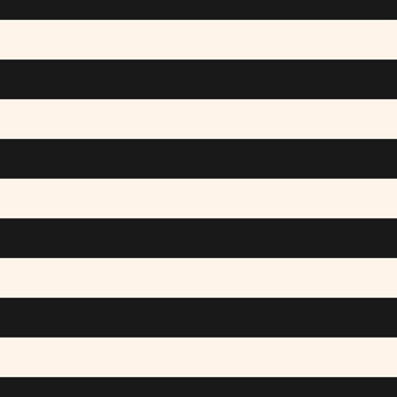 Horizontal stripes vector seamless pattern. Wide black & white lines texture. Modern abstract geometric striped background. Simple monochrome stripy template. Repeat design for decor, banners, covers