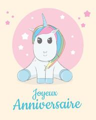 Joyeux anniversaire - Licorne