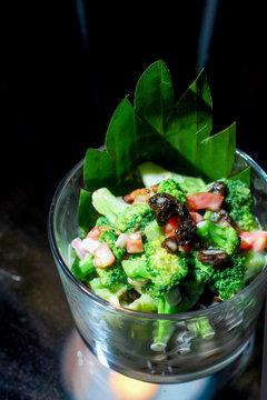 fresh mixed salad with broccoli