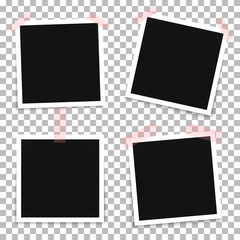 Vector set of photo frame templates on a transparent background