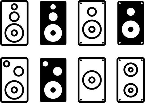 Speaker Icon Collection Design