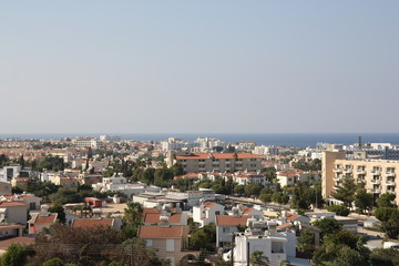 The sea resort city from height of bird's fligh