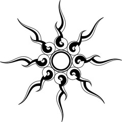 Sun Tribal Tattoo Design
