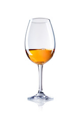 glass of liqueur, brandy , cognac,  isolated