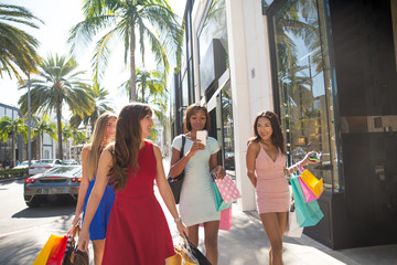 Beautiful women shopping