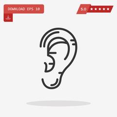 human ear vector icon