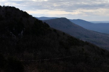 View from restaurant deck at Cheaha Mountain State Park in Alabama, USA