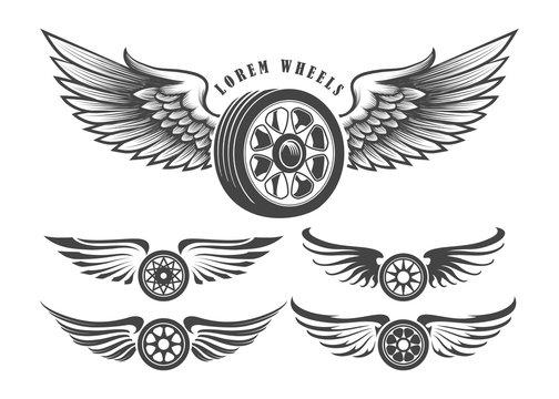 Winged Wheels emblem set