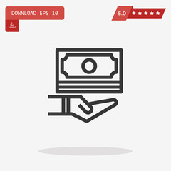 cash money vector icon