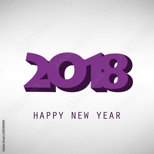 simple purple and grey new year card cover or background design template 2018