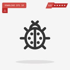 ladybug vector icon