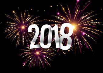 2018 bonne année feux d'artifice