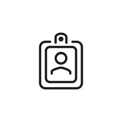 Badge with photo icon