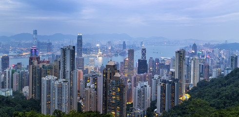 View of Hong Kong Harbour