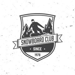 Snowboard Club. Vector illustration.