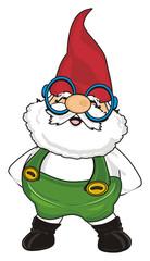 gnome, garden, man, dwarf, magic, cartoon, man, fairy tale, elf, stand, glasses