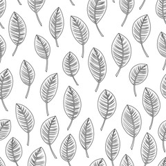 Seamless abstract nature background, hand draw