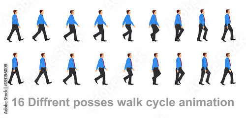 quotbusiness man walk cycle sprite sheet animation frames