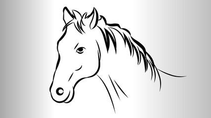 Horse face Vector