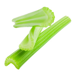 celery isolated on white background, clipping path, full depth o