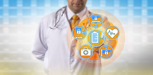 Doctor Transfers Data Between Networked Devices