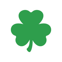 Three leaf clover. Vector icon. St Patricks day. Clover silhouette.