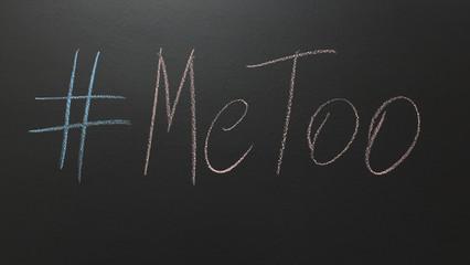 me too written on blackboard