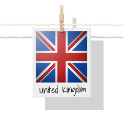 European country flag collection with photo of United Kingdom flag , vector , illustration