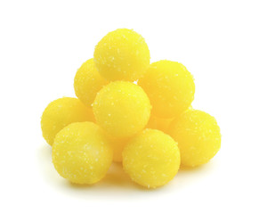 Yellow candy isolated