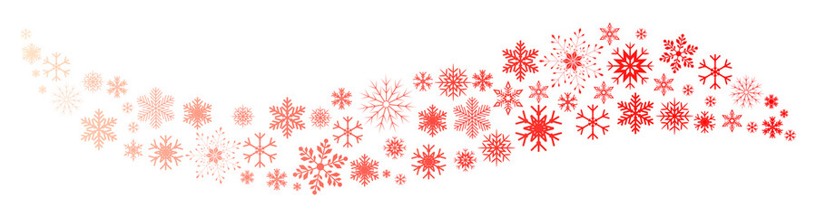 Red wave snowflake background - stock vector
