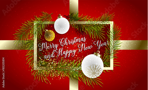 Merry Christmas Poster 2018.2018 Happy New Year Background For Your Seasonal Flyer And