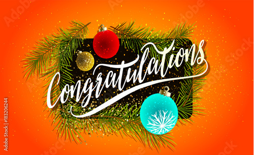 2018 congratulations and happy new year background for your seasonal flyers and greetings card or christmas