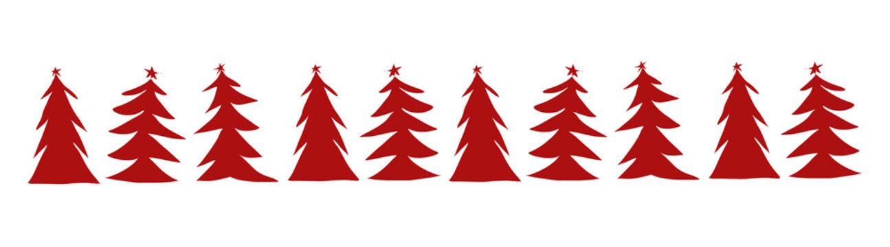 Christmas tree margin winter background, New Year digital illustration