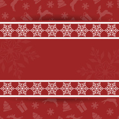 Beautiful Christmas card with snowflakes. Elegant background for New Year`s design. Merry Christmas and Happy New Year. Vector illustration.