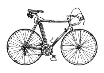 illustration of racing bicycle
