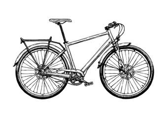 illustration of hybrid bicycle