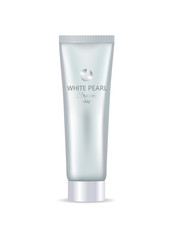 White Pearl Day Face or Hand Cream in Bottle Tube