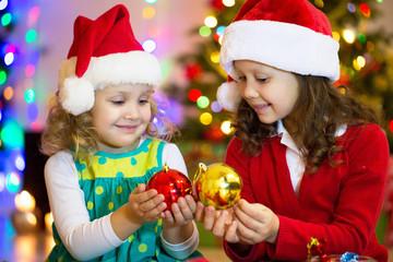 little girls in christmas