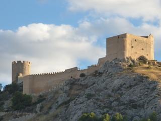 Castillo de Castalla. Pueblo de interior de Alicante en la Comunidad Valenciana, España.