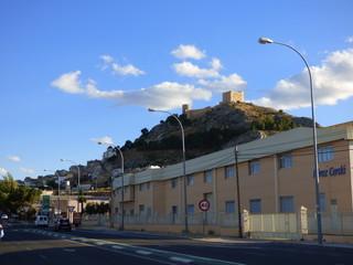 Castalla. Pueblo de interior de Alicante en la Comunidad Valenciana, España.