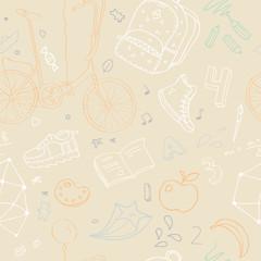 seamless pattern on school theme.