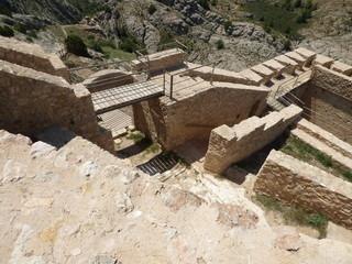 Castillo de Castellote. Pueblo de Teruel ( Aragon) en la comarca turolense del Maestrazgo, en España