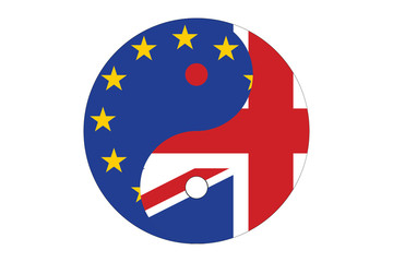 Yin Yang balance between European union and United Kingdom