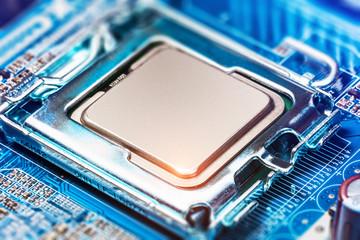 CPU socket on motherboard