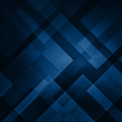 abstract blue background in dark navy blue colors with layers of white diamond and triangle shapes in transparent design