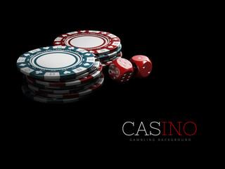 Casino Poker Chips. Casino Games, 3D Illustration