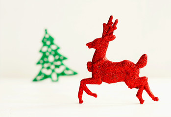 Picture of christmas concept over white background. New year eve.
