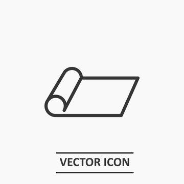 Outline mat  icon illustration vector symbol