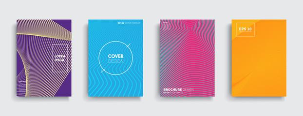 Vector cover designs. Future Poster template.