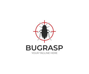 Pest Control Logo Template. Insect Vector Design. Bug Illustration